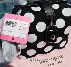 Kate Spade Remedy Bikini Dot Small Top-handle Bag Black White NEW $258
