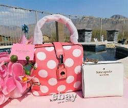 Kate Spade Remedy Bikini Dot Small Top-handle Bag Pink White NEW $258