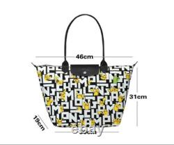 LONGCHAMP X POKEMON Pikachu Le Pliage Top Handle Bag Size L 1899