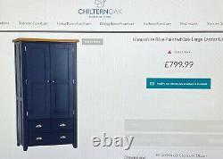 Large Hampshire blue oak top larder cabinet kitchen cupboard RRP £799 Delivery