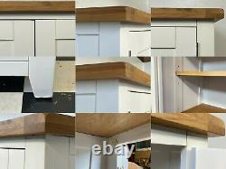 Large Hampshire oak topped larder cabinet kitchen cupboard RRP £799 Delivery