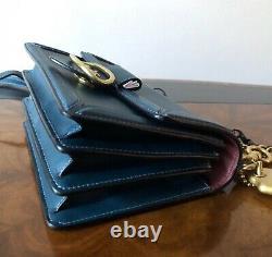 Last One NWT Coach 1941 Peacock Leather Riley 18 Top Handle Crossbody Bag 74615