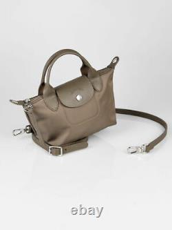 Longchamp LE PLIAGE NEO TOP HANDLE BAG Mini XS Taupe
