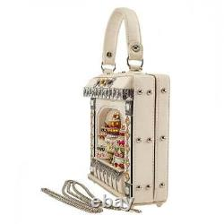 Mary Frances Cake Shop Bead Top Handle Bridal Handbag White Bride Bag Sweets NEW