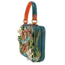 Mary Frances Good Fortune Beaded Koi Fish Top Handle Blue Ocean Handbag Bag New