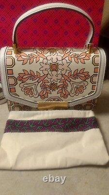 NEW! $498 TORY BURCH Juliette Top Handle Satchel Bag (Hicks Garden) NWT 48028
