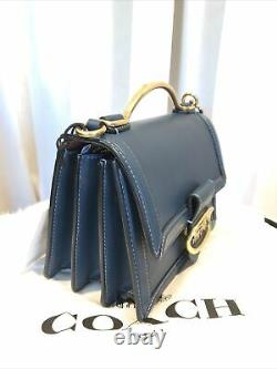 NEW COACH 1941 Riley Top Handle 18 PEACOCK Glovetanned Leather