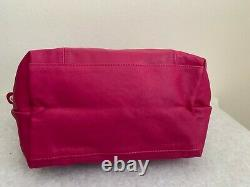 NEW LONGCHAMP Small Le Pliage Cuir Leather Top Handle Satchel Bag Made in France