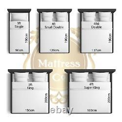 NEW ROYAL 3000 Pocket Pillow Top Mattress 3ft, 4ft6,5ft, 6ft