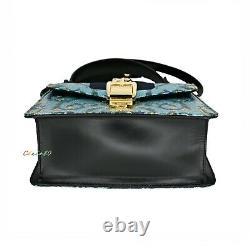 NWT Authentic Gucci Iridescent Brocade Mini Sylvie Top Handle Bag