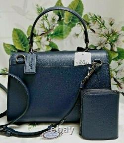 NWT COACH TILLY Top Handle BUTTERFLY SATCHEL & WALLET In MIDNIGHT MULTI Leather