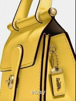 NWT Coach 1941 ORIGINALS 1990 Design Yellow Willis 18 Top Handle Crossbody