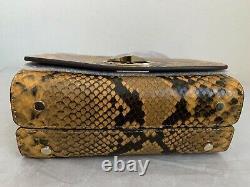 NWT! Kate Spade Nicola Snake Embossed Twistlock SMALL Top Handle Bag PXRUA613