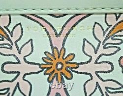 NWT TORY BURCH BLOCK-T PRINTED MINI SATCHEL Top Handle Bag In HICKS GARDEN MULTI