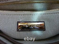 NWT Tory Burch Classic Taupe Kira Chevron Top-Handle Satchel $498