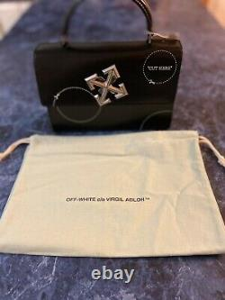 Off White Jitney 2.8 Black Cut Here Top Handle Bag Brand New with Dust Bag