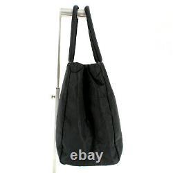 PRADA Tessuto Nylon Fabric Vela Tote Top Handle Bag in Black Made in Italy Y2K