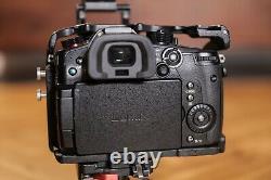 Panasonic Lumix GH5s kit with Movcam cage, top handle, 6 panasonic batts, + more
