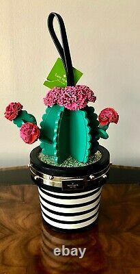 Retired Kate Spade Scenic Route Cactus In Flower Pot Wristlet Top Handle Bag