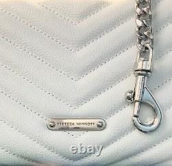 Sale$248Rebecca Minkoff EDIE Top Handle Quilted Leather NWT Crossbody Bag WHITE