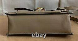 Salvatore Ferragamo Taupe Leather Top Handle Aileen Crossbody Small Handbag Bag