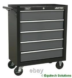 Sealey AP2505B + AP2509B Combo Rollcab Top Chest Stack Tool Box Black 14 Drawer