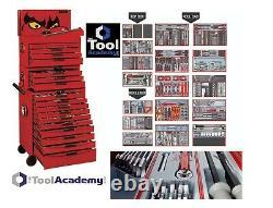 Teng Tools MEGA MASTER Tool Kit 1001pc 3 BOXES TOP MIDDLE ROLLCAB