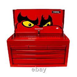 Teng Tools Red Toolbox Top Box Storage Chest Ball Bearing Slides 6 Drawer