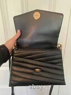 Tory Burch KIRA CHEVRON TOP-HANDLE black handbag