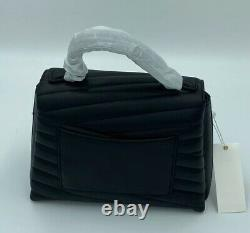 Tory Burch Kira Chevron Quilted Top Handle Black Shoulder Bag Authentic NWT
