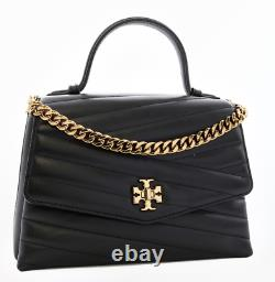 Tory Burch Kira Chevron Quilted Top Handle Crossbody Shoulder Bag Authentic New
