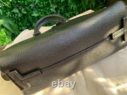 Tory Burch Miller Top Handle Black Leather Shoulder Bag Authentic New