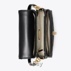Tory burch Kira Chevron Top-Handle Satchel Bag Black 61674 Tracking Number