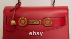 VERSACE Red Tribute Icon Large Medusa Handbag Bag Satchel Top Handle 2017 NEW