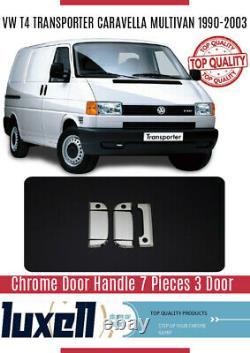 VW T4 Caravelle/Transporter 1990-2003 Chrome Door Handle 7Pcs 3Door S. Steel(RHD)