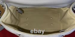 Valentino Garavani Candystud Light Gray Top Handle 2 Way Crossbody Handbag EUC