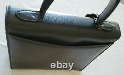 Vintage Coach Navy Biltmore Bag 4417 Madison Collection Top Handle Italy GUC HTF