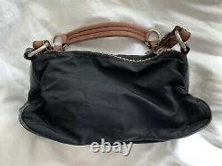 Vintage Prada Nylon Bag With Leather Handle Shoulder Handbag Purse Top