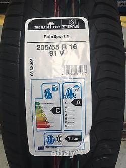 X2 205 55 16 91v Uniroyal Rainsport 5 (a) Rated Wet Grip Top Quality Tyres