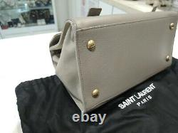 YSL YVES SAINT LAURENT Muse Two Hand Bag Canvas Leather Top Handle Excellent